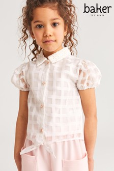 Baker by Ted Baker Check Collar Top