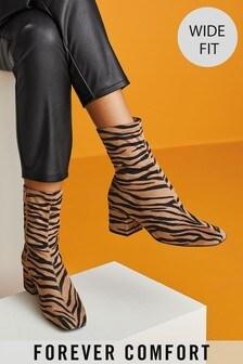 Forever Comfort® Block Heel Sock Boots