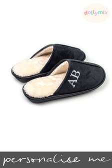 Personalised Men's Mule Slippers by Dollymix