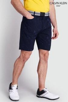 Calvin Klein Golf Blue Cracked Print Genius 4-Way Stretch Shorts