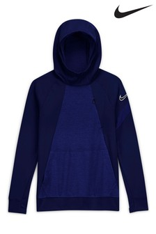 Nike Navy Knit Pull-Over Hoody