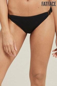 FatFace Black Textured Hoop Classic Bikini Briefs