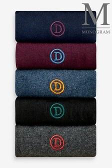 Mens Embroidered Socks