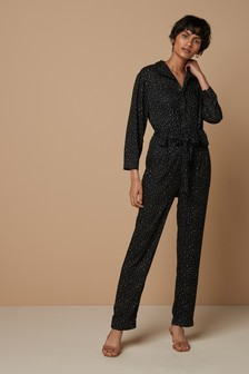 Popper Front Jumpsuit