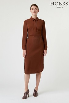 Hobbs Brown Reagan Dress