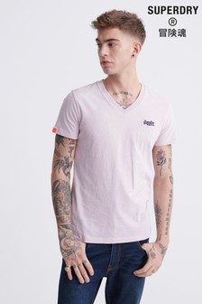 Superdry Orange Label Vintage V-Neck T-Shirt