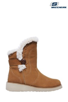 Skechers® Brown Keepsakes Wedge-Cozy Peak Boots