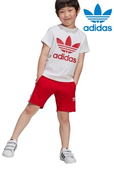 adidas Originals Little Kids Shorts And T-Shirt Set