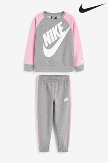 Nike Little Kids Futura Grey Crew And Joggers Set