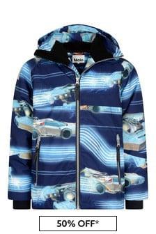 Boys Blue Past Now Future Ski Jacket