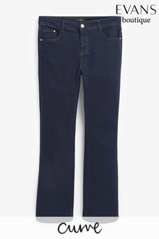 Evans Curve Regular Indigo Boot Cut Jeans