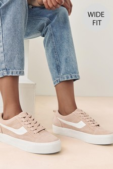 Suede Side Detail Chunky Trainers