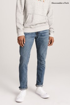Abercrombie & Fitch Mid Wash Slim Jeans