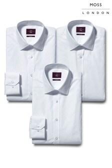 Moss London Regular Fit Shirts Three Pack