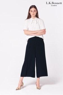 L.K.Bennett Blue Klee Spot Print Trousers