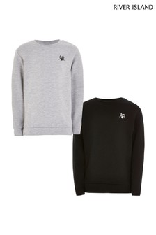 River Island Black/Grey Sweaters Two Pack