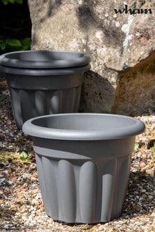 Set of 3 Wham Vista 33cm Plastic Round Planters
