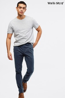 White Stuff Blue Portland Organic Overdye Chino Trousers