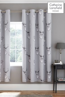 Stag Lined Eyelet Curtains by Catherine Lansfield