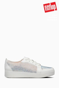 FitFlop™ White Hotfix Collet Sneakers