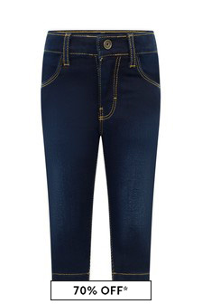 Baby Boys Blue Rinse Denim Stretch Jeans