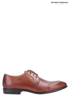 Steptronic Brown Faro Oxford Lace-Up Shoes