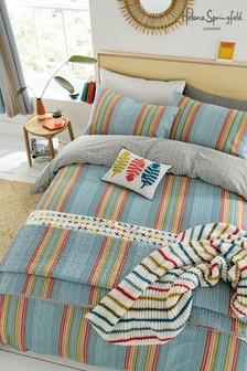 Helena Springfield Macaw Stripe Duvet Cover and Pillowcase Set