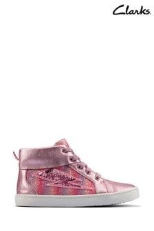 Clarks Light Pink Combi City Myth K Boots