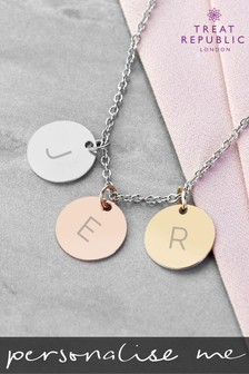 Personalised My Familys Discs Necklace by Treat Republic