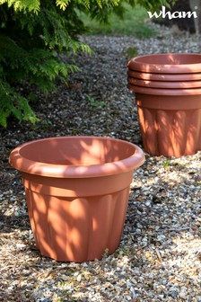Set of 5 Vista 33cm Round Garden Planters by Wham