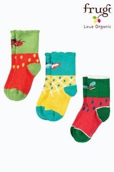 Frugi Organic Socks Three Pack In Fruit Designs