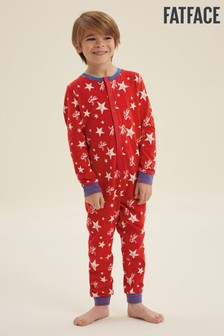 FatFace Red Star Print Jersey Onesie