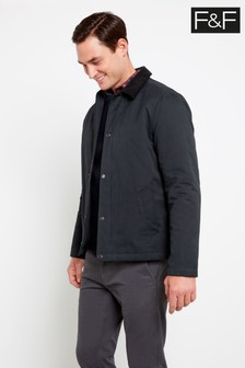 F&F Black Waxed Cotton Jacket