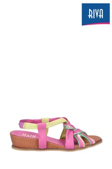 Riva Pink Diamond Elasticated Slingback Sandals