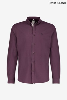 River Island Dark Red Oxford Shirt