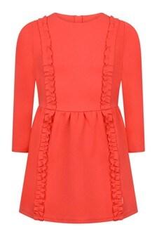 Girls Orange Milano Dress