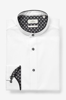 Grandad Contrast Collar Shirt