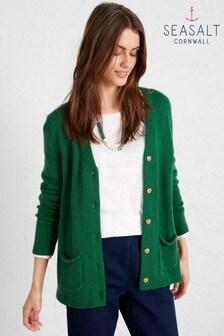 Seasalt Green Log Basket Cardigan