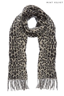 Mint Velvet Animal Jacquard Scarf