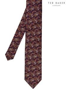 Ted Baker Purple Farmer Mini Floral Silk Tie