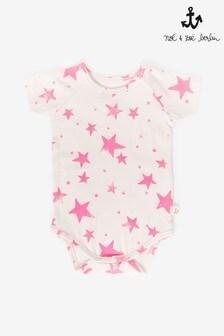 Noé & Zoë Neon Pink Stars Short Sleeve Body Vest