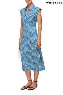 Whistles Blue Astrix Floral Dress
