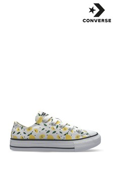 Converse Lemon Print Youth Trainers
