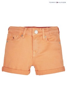 Tommy Hilfiger Orange Nora Denim Shorts