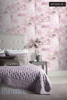 Arthouse Pink Children's Pandora's Dream Unicorn Wallpaper