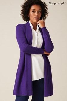 Phase Eight Purple Lili Longline Cardigan