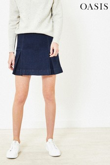 Oasis Kilt Mini Skirt