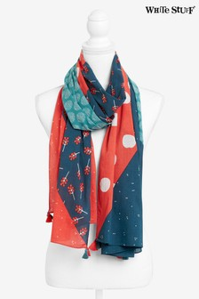 White Stuff Red Carrie Organic Cotton Scarf