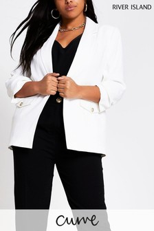 River Island White E2E Pocket Detail Blazer
