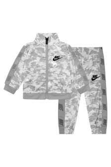 Baby Boys Grey Camo Tricot Tracksuit